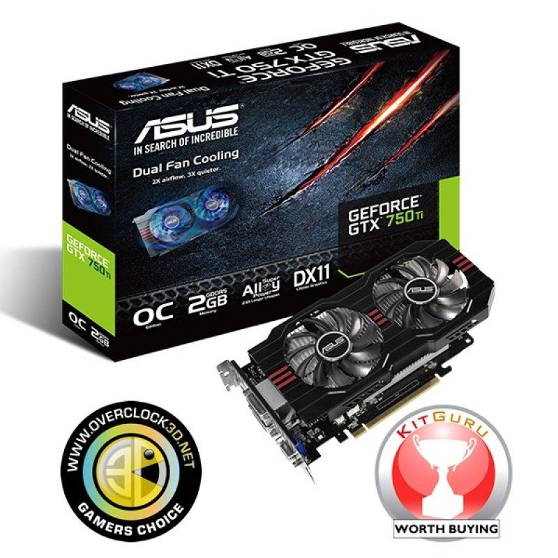 Asus GeForce GTX 750 Ti OC 2GB GDDR5 Dual DVI HDMI PCIE Graphics Card