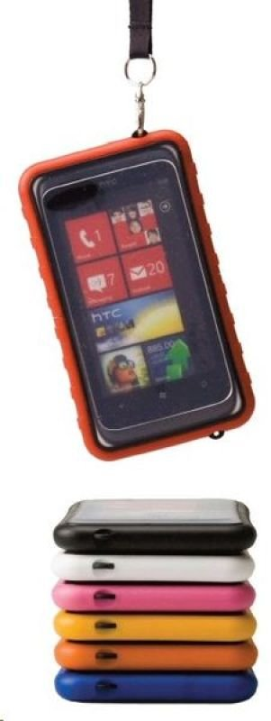 Image of Krusell 95329 Sealabox Waterproof Case for Smartphones Compatible with iPhone4 Yellow
