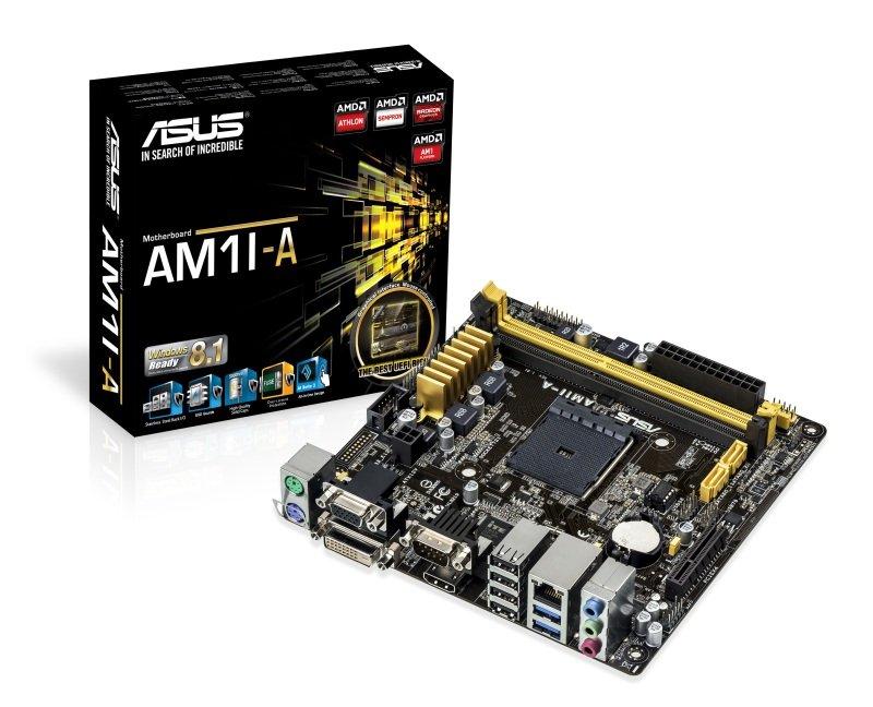 Asus AM1IA Socket AM1 VGA DVI HDMI  8Channel HD Audio Mini ITX Motherboard
