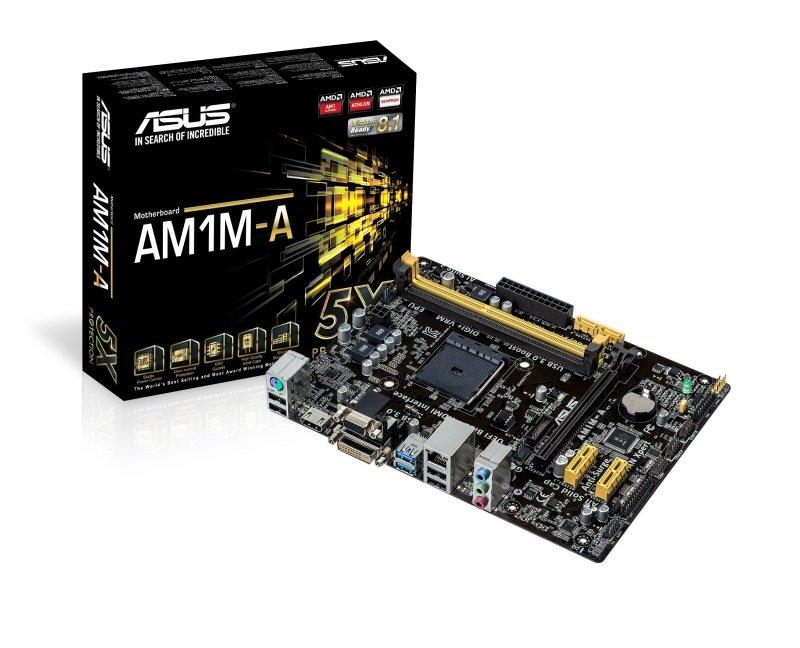 Asus AM1MA Socket AM1 VGA DVI HDMI 8Channel HD Audio mATX Motherboard