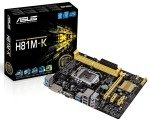 Asus H81M-K Socket 1150 VGA DVI 8 Channel Audio mATX Motherboard