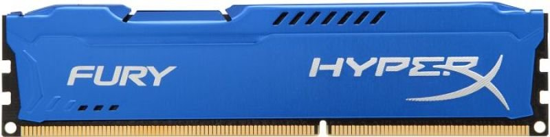 HyperX 4GB 1600MHz DDR3 CL10 DIMM Fury Series Blue Memory