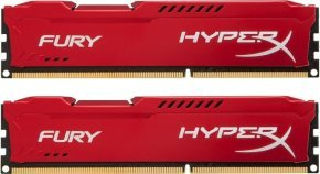 HyperX Fury Red 16GB 1600MHz DDR3 CL10 DIMM (Kit of 2) Memory