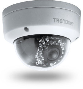 TRENDnet Outdoor 3MP Full HD PoE Dome Day/Night Network IP Camera