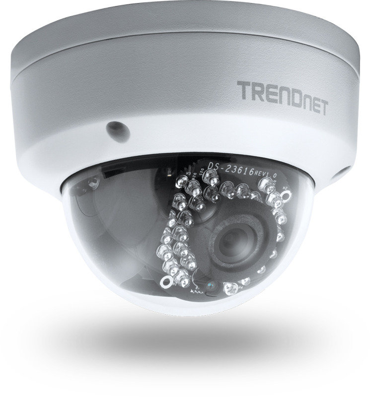 TRENDnet Outdoor 3MP Full HD PoE Dome DayNight Network IP Camera