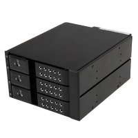 Startech.com 3 Bay Aluminum Trayless Hot Swap Mobile Rack Backplane For 3.5 Inch Sas Ii/sata Iii - 6 Gbps Hdd