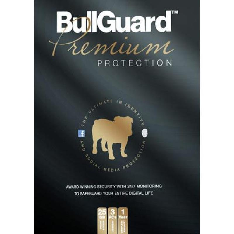 Image of Bullguard Premium Protection- 1year 3user /25gb