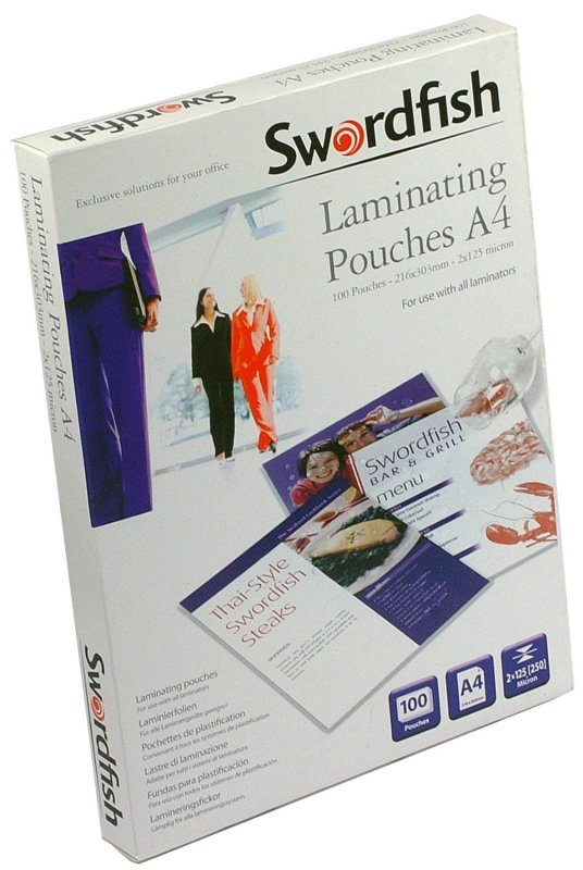 Swordfish A4 250 Micron Laminating Pouches - 100 Pack