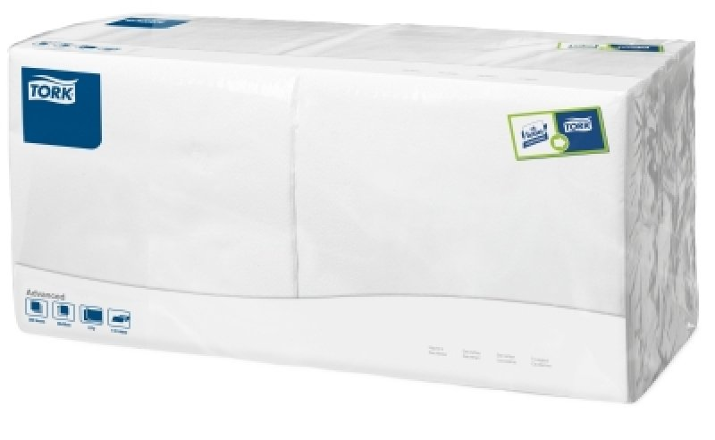 Tork Lunch Napkin White 2ply Pk200