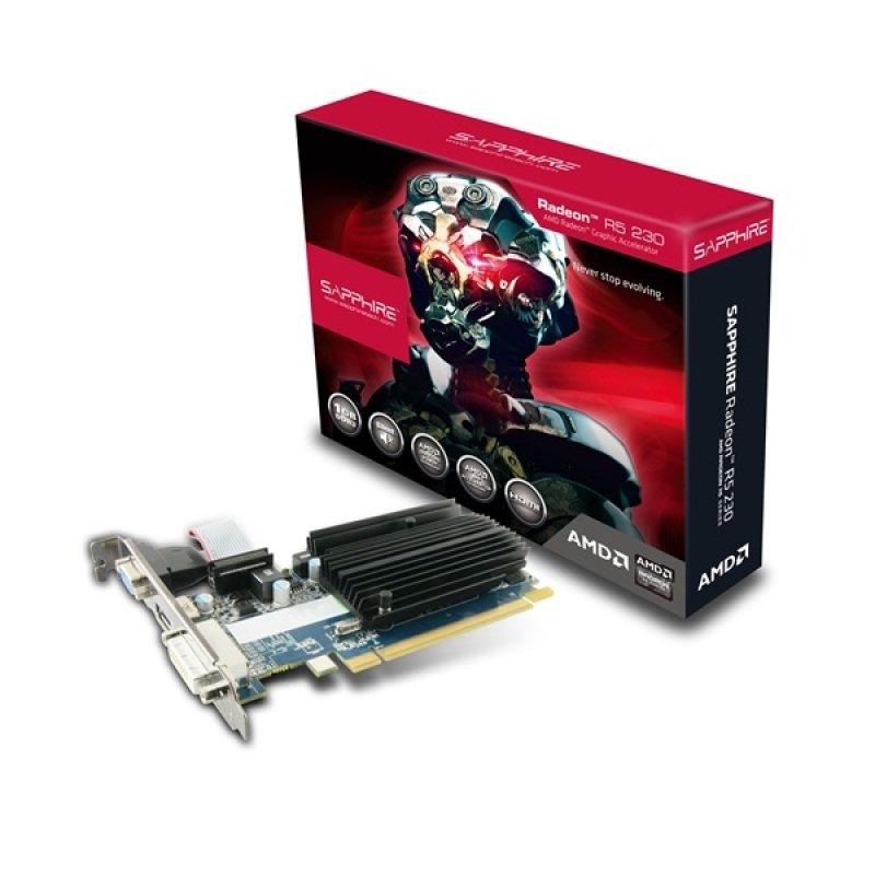 Sapphire Radeon R5 230 1GB DDR3 VGA DVI HDMI PCIE Graphics Card