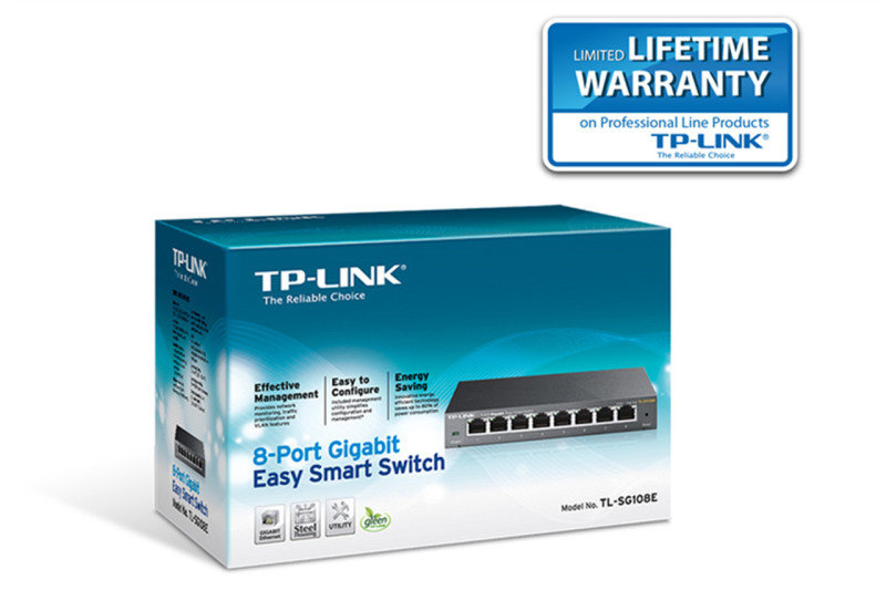 TP-Link TL-SG108E - 8 Port Gigabit Easy Smart Network Switch