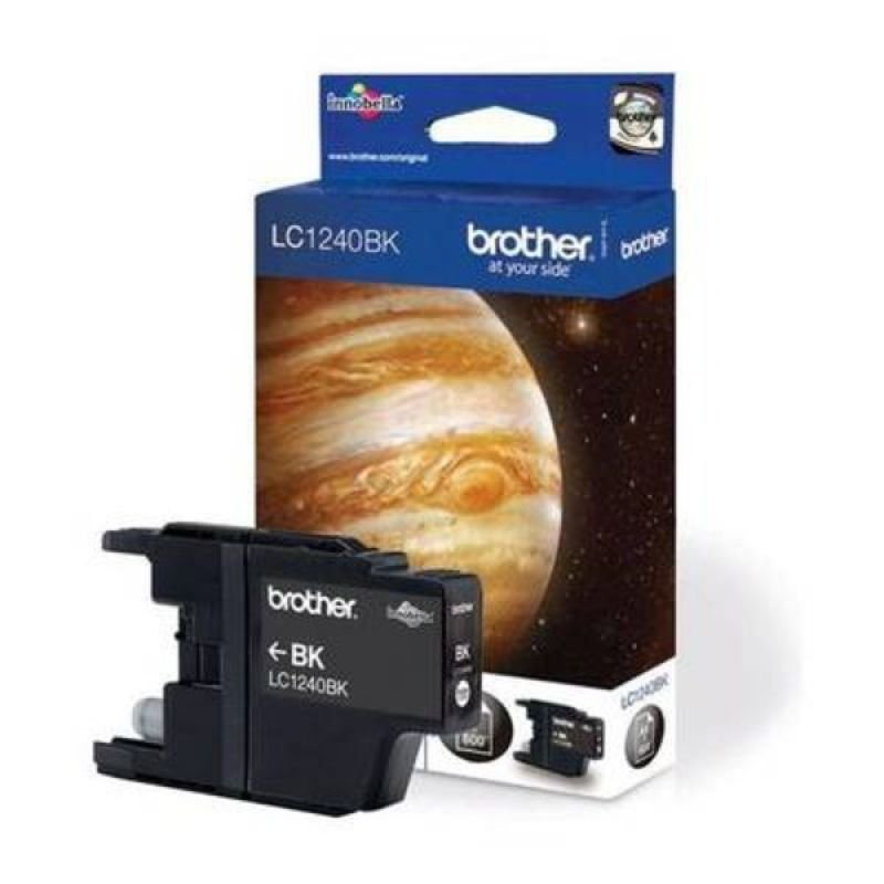 Brother LC1240BK Standard Yield Black Ink Cartridge - 600 pages