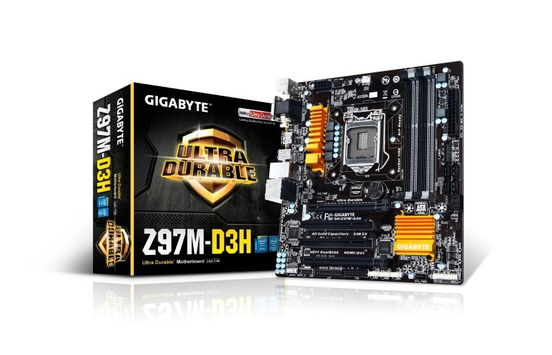 Gigabyte GA-H97M-D3H Socket 1150 VGA DVI HDMI 8 Channel Audio mATX Motherboard