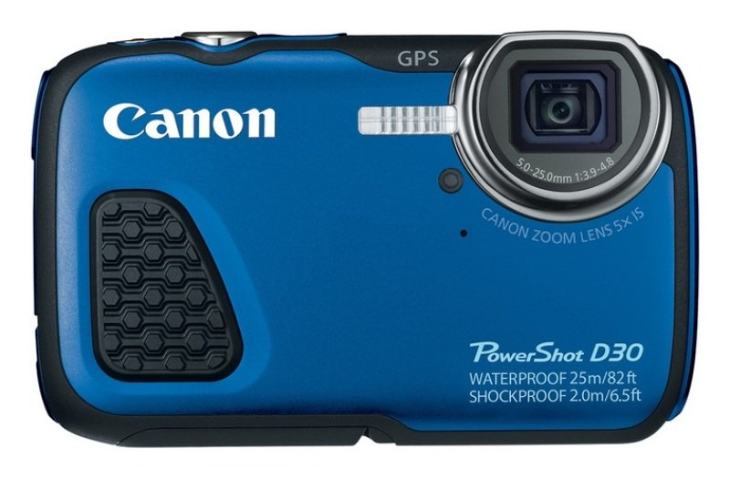 Canon PowerShot D30 Digital Compact Camera  Blue