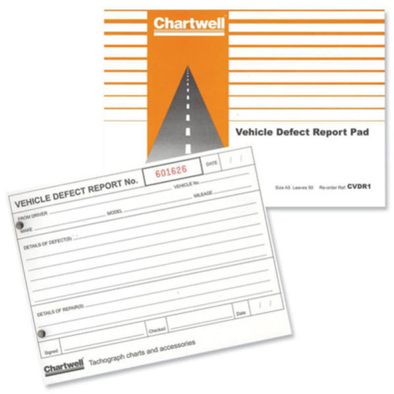 Chartwell Vehicle Defect Report Book