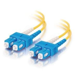 C2G 1m SC-SC 9/125 OS1 Duplex Singlemode PVC Fibre Optic Cable (LSZH) - Yellow