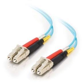 30m LC-LC 10Gb 50/125 OM3 Duplex Multimode PVC Fibre Optic Cable (LSZH) - Aqua
