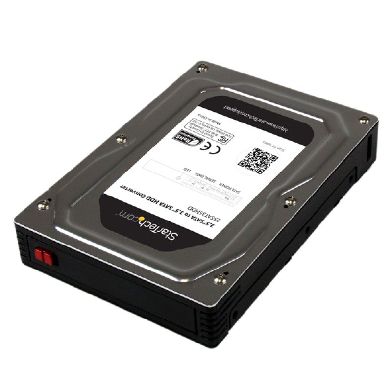 StarTech.com 2.5 inch  to 3.5 inch SATA Aluminum Hard Drive Adapter Enclosure with SSD  HDD Height up to 12.5mm