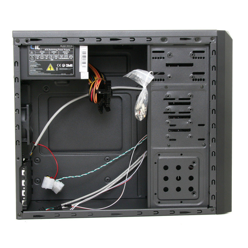 CIT Shade Micro Black Interior 500W 120mm Black Psu USB3 Port PC Case