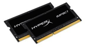 HyperX 16GB 1600MHz DDR3L CL9 SODIMM (Kit of 2) 1.35V HyperX Impact Black