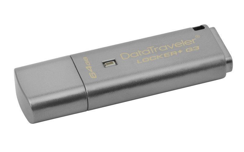 Kingston Technology DataTraveler Locker+ G3 Hardware Encrypted 64GB USB 3.0 Secure Flash Drive