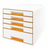 Leitz Wow 5 Drawer Desk Cube Orange