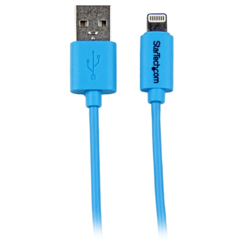 Image of 1m Blue Lightning To Usb - Cable For Iphone Ipod Ipad