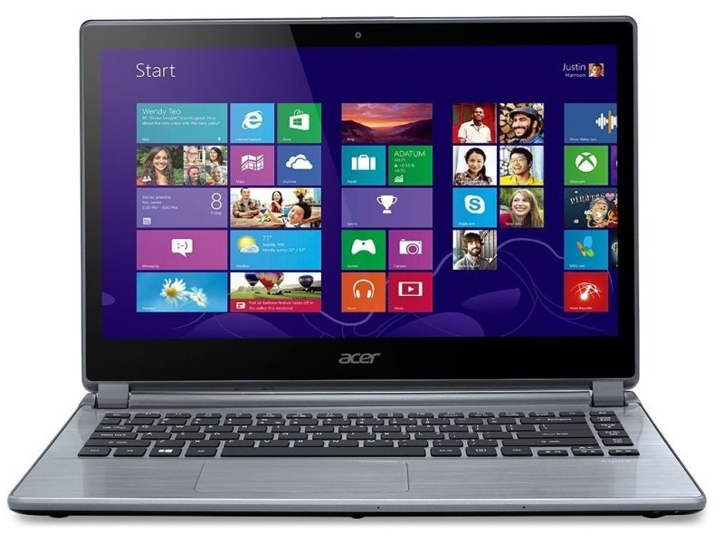 Acer Aspire V5473 Laptop Intel Core i54200U 1.6GHz 4GB RAM 500GB HDD 14&quot LED NoDVD Intel HD Webcam Bluetooth Windows 8 64bit