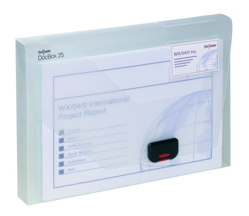 SNOPAKE DOCUMENT BOX 25 CLEAR 12849