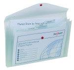 Snopake Polyfile Trio Wallet File Foolscap Clear (Pack 5)