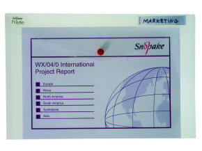 Snopake Polyfile Fcp Clear 11154x - 5 Pack