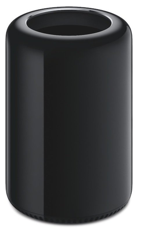 Image of Apple Mac Pro Tower Desktop, Intel Xeon E5 3.7GHz, 12GB RAM, 256GB SSD, No-DVD, FirePro D300 Dual GPU, Wifi, Bluetooth, OS X 10.9 Mavericks