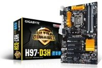 Gigabyte GA-H97-D3H Socket 1150 VGA DVI HDMI DisplayPort 8 Channel Audio ATX Motherboard