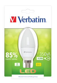 Verbatim Led Candle E14 4.5w 350lm Frost