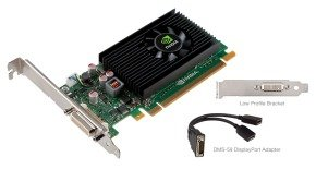 PNY NVS 315 1GB 64bit GDDR3 DMS59 giving 2 x DisplayPort PCI-E Graphics Card