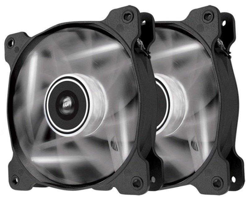 Corsair Air Series SP120 LED White High Static Pressure 120mm Fan Twin Pack