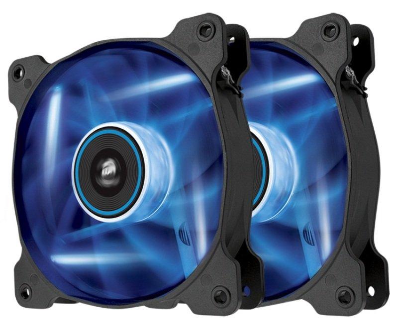 Corsair Air Series SP120 LED Blue High Static Pressure 120mm Fan Twin Pack