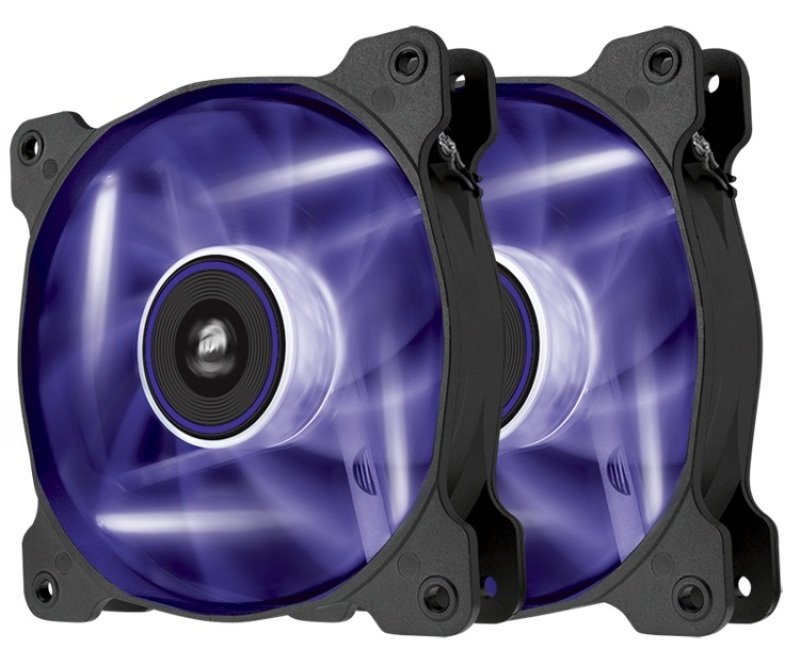 Corsair Air Series SP120 LED Purple High Static Pressure 120mm Fan Twin Pack