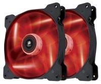 Corsair Air Series SP140 LED Red High Static Pressure 140mm Fan Twin Pack