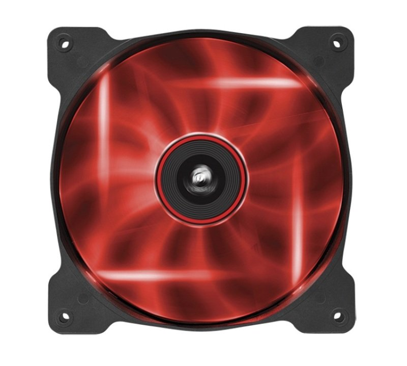 Corsair Air Series SP140 LED Red High Static Pressure 140mm Fan Twin Pack