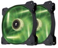 Corsair Air Series SP140 LED Green High Static Pressure 140mm Fan Twin Pack