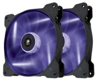 Corsair Air Series SP140 LED Purple High Static Pressure 140mm Fan Twin Pack
