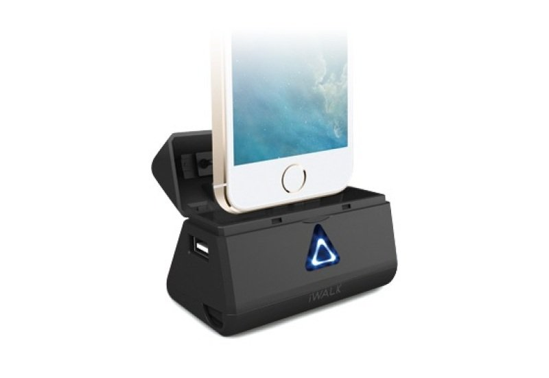 Image of Iwalk Dbl5200i Rechargeable 5200mah Battery/dock (black) For Iphone 5/5s/5c And Ipad 4/mini