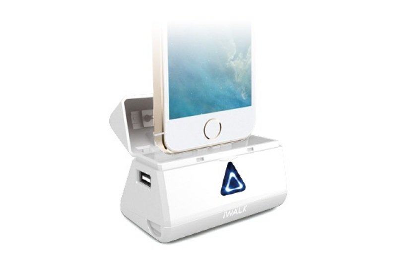 Image of Iwalk Dbl5200i Rechargeable 5200mah Battery/dock (white) For Iphone 5/5s/5c And Ipad 4/mini