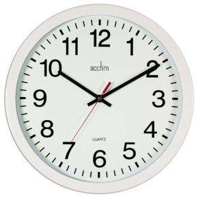 ACCTIM CONTROLLER WALLCLOCK 368MM WHITE