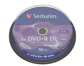 Verbatim 8x DVD+R DL Discs - 10 Pack Spindle