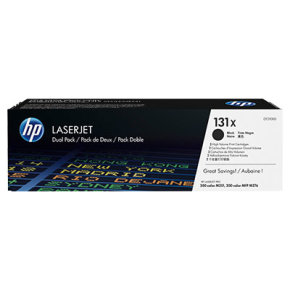 HP 131X Black LaserJet Toner cartridges - Dual Pack - CF210XD