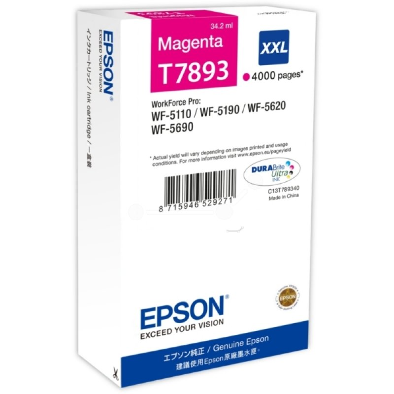 Epson T7893 Extra HC Magenta Ink Cartridge