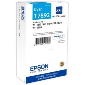 Epson T7892 Extra HC Cyan Ink Cartridge