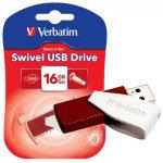 Verbatim Store 'n' Go Swivel (16GB) USB 2.0 Flash Drive (Red)